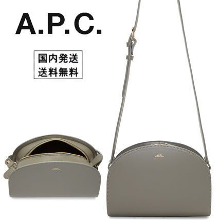 A.P.C. アーペーセー ハーフムーンバッグ グレー