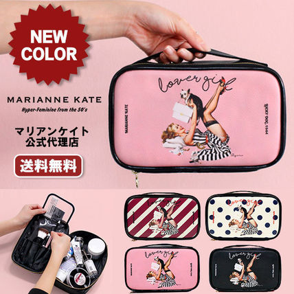 Marianne kate メイクポーチ 【即納・送料無料】MARIANNE KATE ラバーガール化粧ポーチ(L)