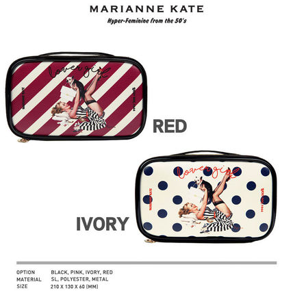 Marianne kate メイクポーチ 【即納・送料無料】MARIANNE KATE ラバーガール化粧ポーチ(L)(3)