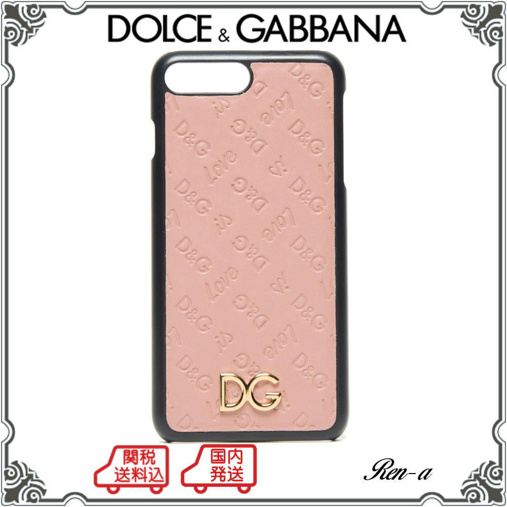★DOLCE & GABBANA★DG LOVE レザー iPhone 7 Plus カバー