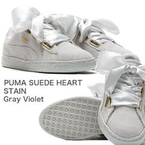 PUMA SUEDE HEART STAIN ( Gray Violet )