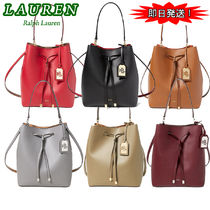 激安価格! Ralph Lauren Debby Leather Drawstring Bag ポーチ付