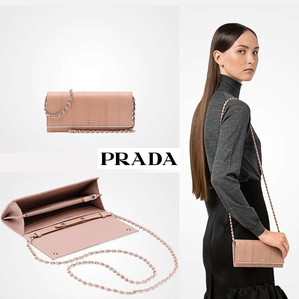 国内発関税込 2018AW PRADA Ayers Leather Wallet