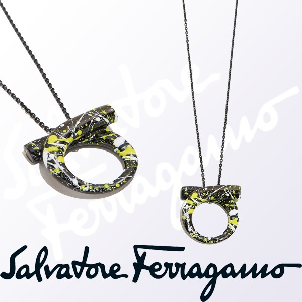 2017-18AW☆Salvatore Ferragamo☆ペイントガンチーニネックレス