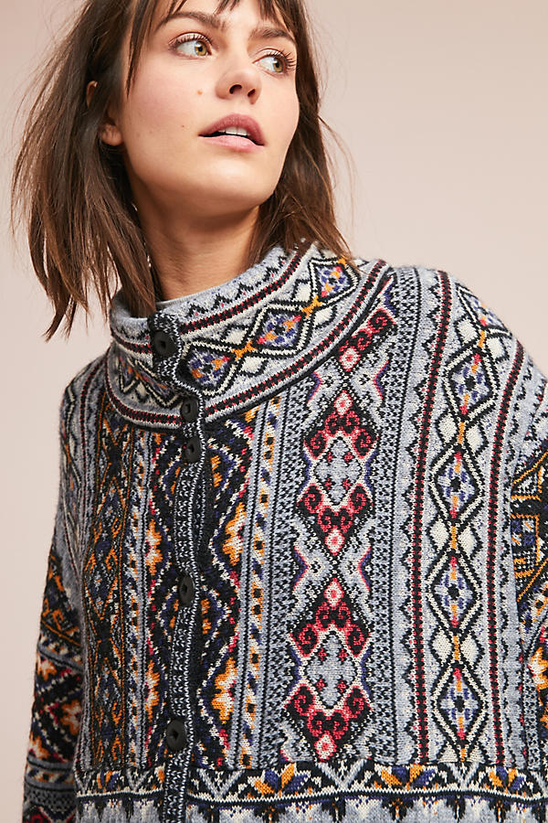 【Anthropologie】Oslo Sweater Coat☆BOHOニットコート☆送込み