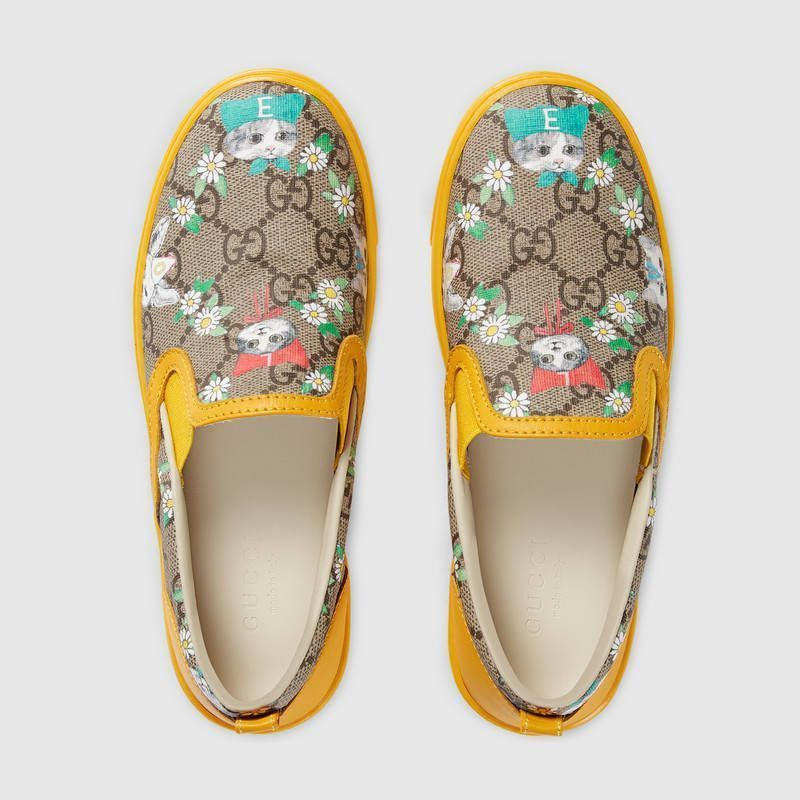 【GUCCI(グッチ)】 Childrens GG Gucci pets and flowers