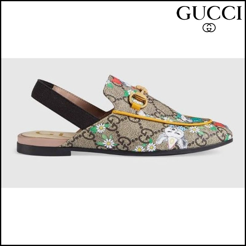 【GUCCI(グッチ)】 Childrens Princetown GG Gucci pets slipper