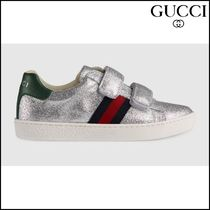【GUCCI(グッチ)】 Childrens glitter sneaker with Web