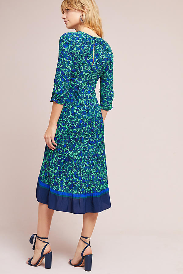 【Anthropologie】新作!花柄が可愛いFloral Ruched Wrapワンピ