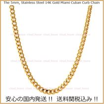 【King Ice】5mm 14K Gold Miami Cuban Curb Chain☆送料税込