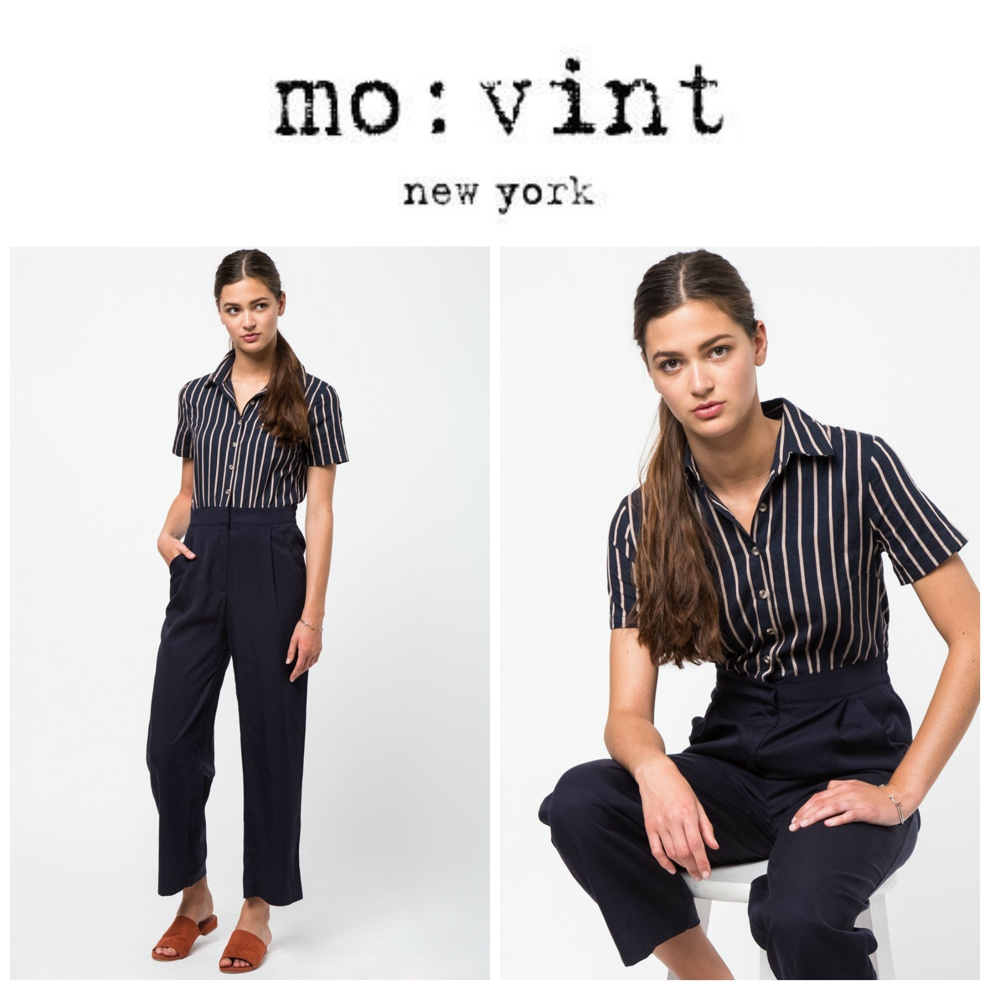 【Movint】●日本未入荷●Short Sleeve Button Down Jumpsuit