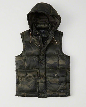 Abercrombie & Fitch ダウンベスト アバクロ メンズダウンベスト  DOWN-FILLED PUFFER VEST