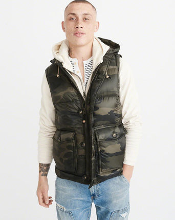Abercrombie & Fitch ダウンベスト アバクロ メンズダウンベスト  DOWN-FILLED PUFFER VEST(2)