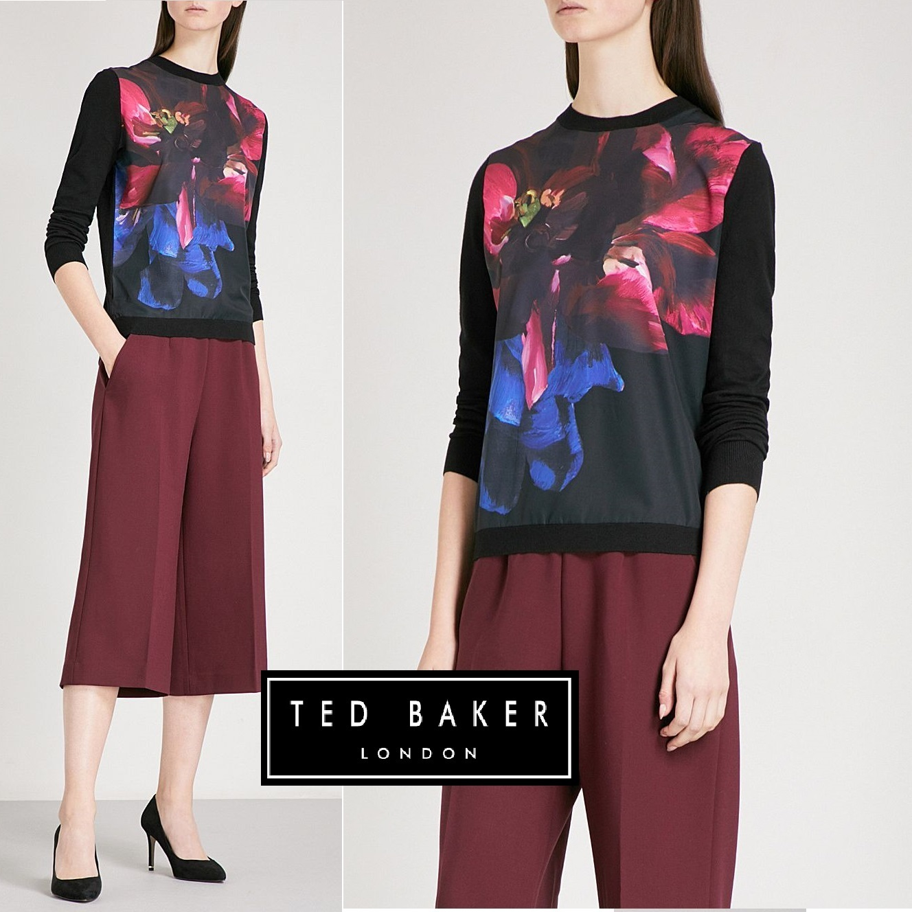 TED BAKER Feodora フローラル柄♪カットソー【関税・送料込み】