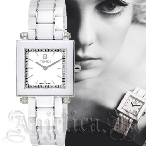 ★超レア在庫★ Fendi White Ceramic Diamond Watch F622240DDC