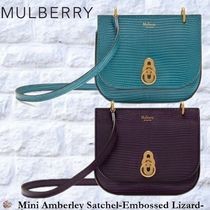 Mulberry☆mini Amberley Satchel -Embossed Lizard-