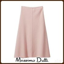 MassimoDutti♪BOILED WOOL SKIRT WITH GROSGRAIN DETAIL
