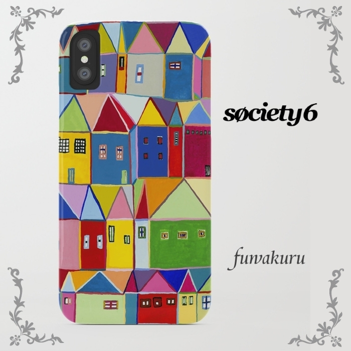 【Society6】iPhone8ケースLittle Houses  8plus/Xに変更可☆