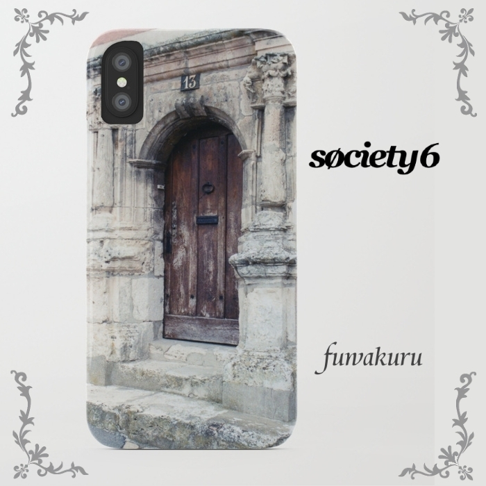 【Society6】iPhone8ケースFrench Door Series8plus/Xに変更可☆