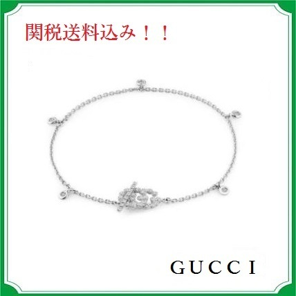 GUCCI☆Double-G Diamond Line Bracelet☆関税送料込み!!