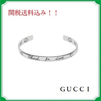 GUCCI☆Silver Blind for Love Cuff☆関税送料込み!!