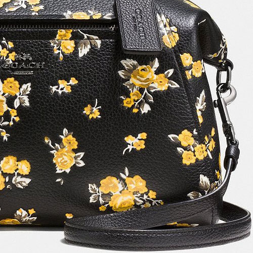 COACH★ペブルレザー PRAIRIE SATCHEL WITH FLORAL PRINT 87109