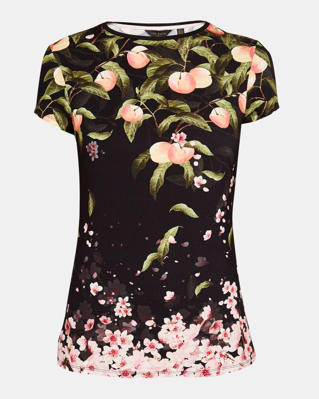 TED BAKERテッドベイカー☆DELILEE Peach Blossom Tシャツ