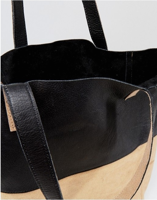 Urbancode Cracked Gold Leather Shopper Bag