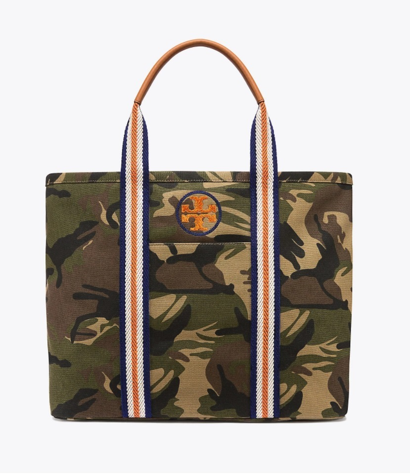 EMBROIDERED-T CAMO LARGE TOTE