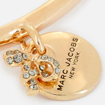 ★MARC JACOBS★ MJ コイン Bow ヒンジ カフ ブレスレット/ Gold