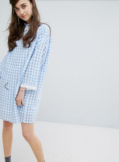 *関送込* Sister Jane Mini Dress In Gingham ワンピース