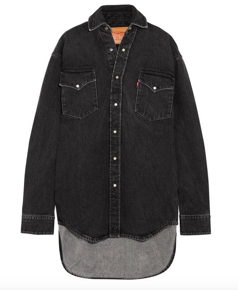 VETEMENTS(ヴェトモン) Levi's oversized denim shirt