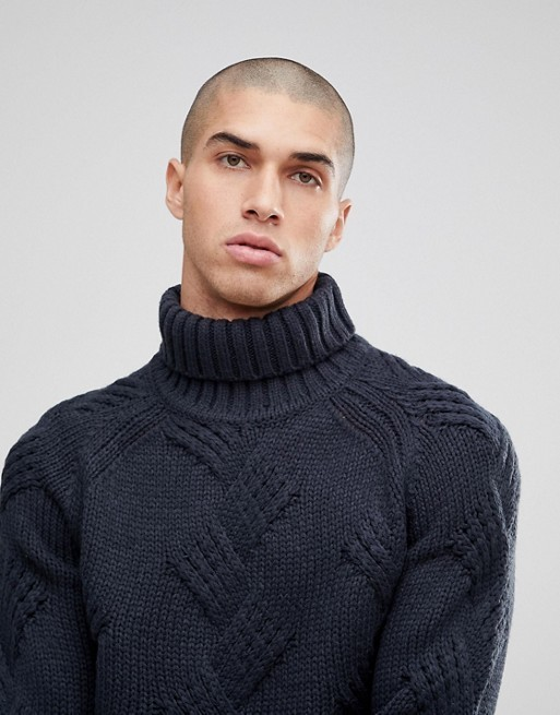 ASOS/ロールネックニット/Only & Sons Roll Neck Knitted Jumper