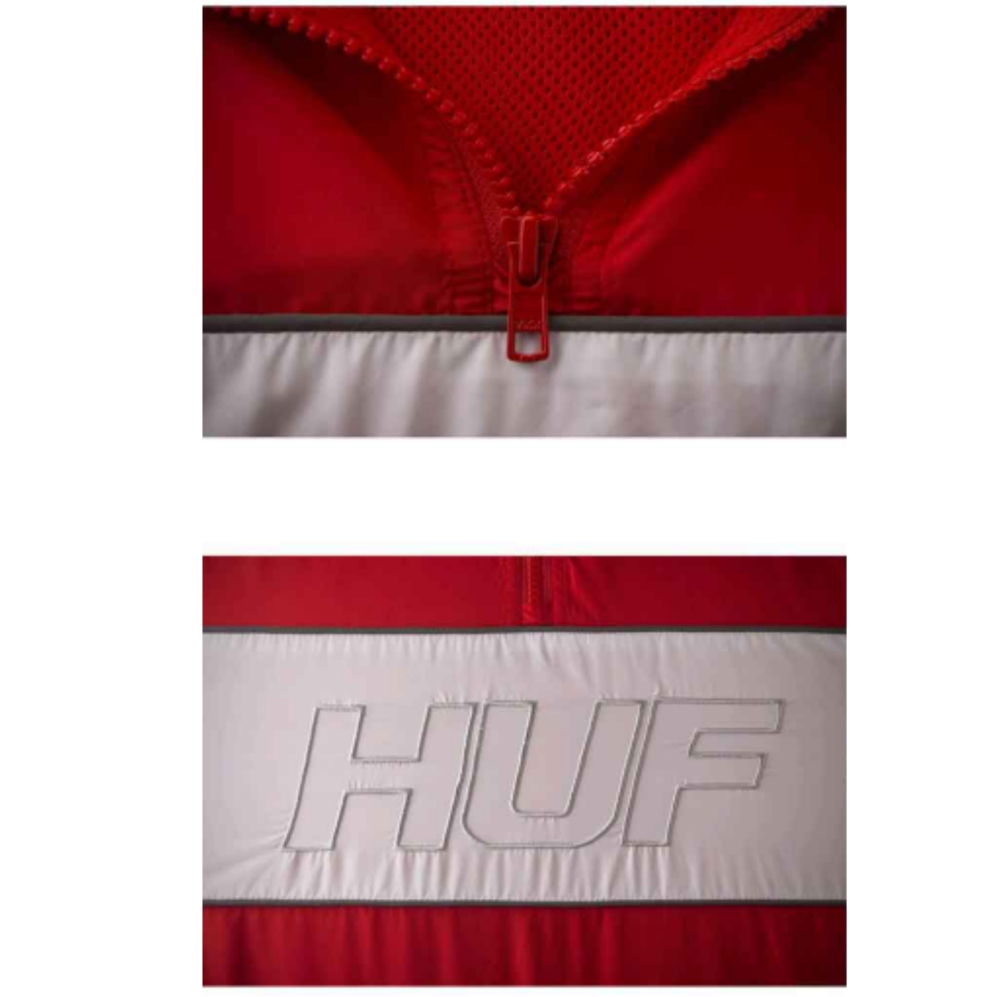 新作★HUF(ハフ)★STADIUM HALF ZIP TRACK JACKET red