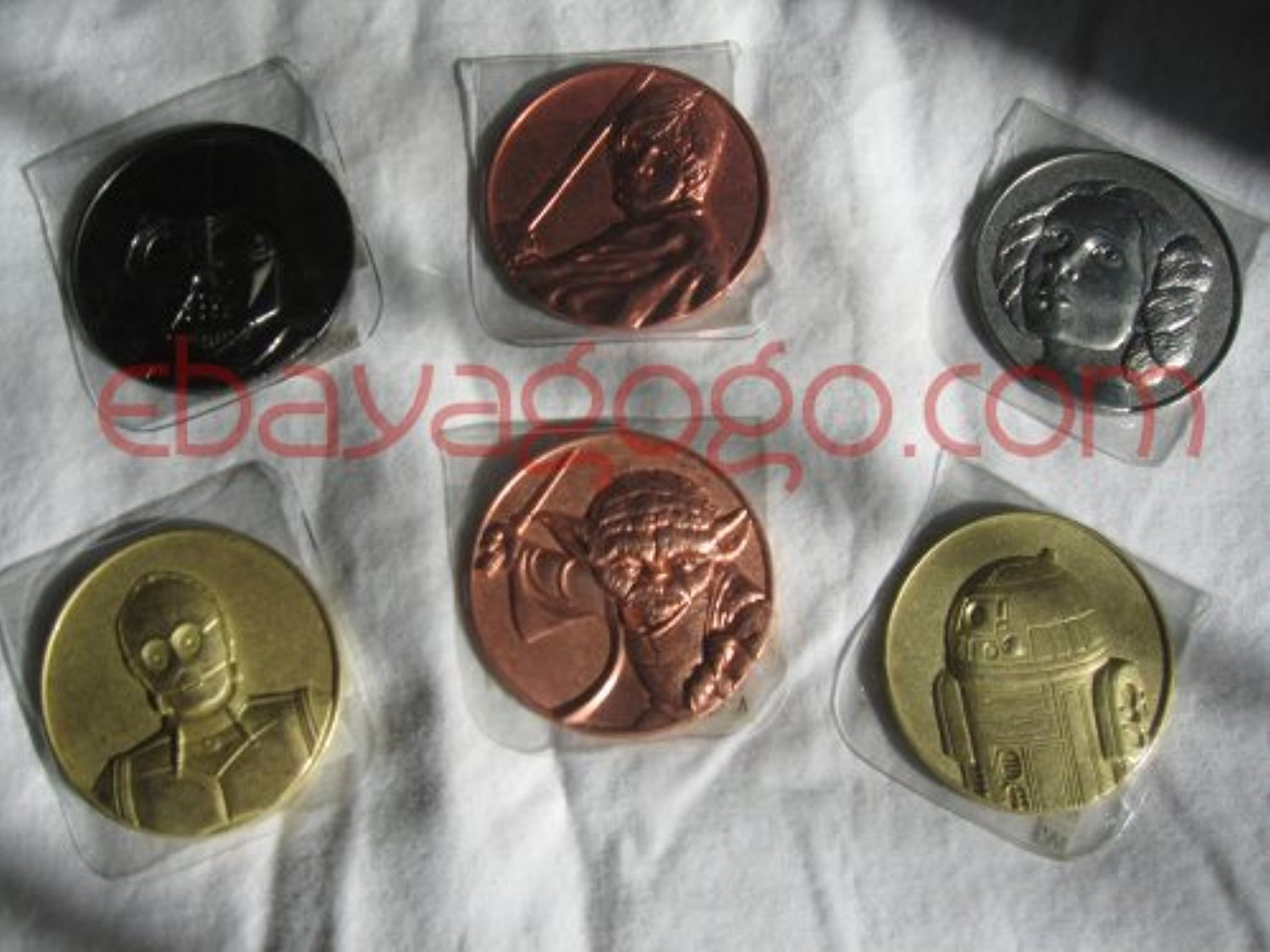 Star Wars Collector Coins: Darth Vader, Yoda, Luke