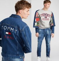 TOMMY JEANS 裏地プリント! レトロロゴデニムジャケット