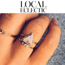 LOCAL ECLECTIC(ローカルエクレクティック) 指輪・リング 【Local Eclectic】MOONSTONE&DIAMOD TRIANGLEリング 2色