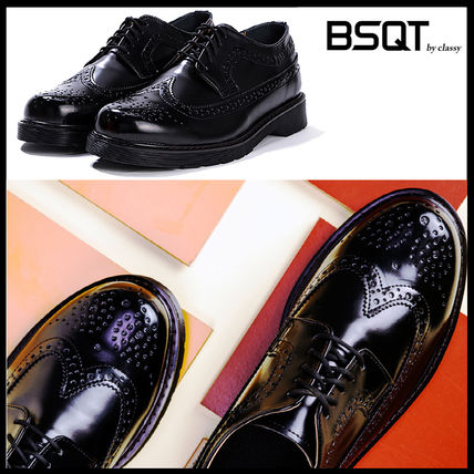 BSQT シューズ・サンダルその他 ★韓国の人気★BSQT★475 EASY-GOING WING TIP SHOES LUCY BLACK
