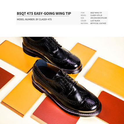 BSQT シューズ・サンダルその他 ★韓国の人気★BSQT★475 EASY-GOING WING TIP SHOES LUCY BLACK(2)