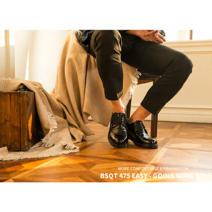 BSQT シューズ・サンダルその他 ★韓国の人気★BSQT★475 EASY-GOING WING TIP SHOES LUCY BLACK(5)