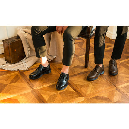 BSQT シューズ・サンダルその他 ★韓国の人気★BSQT★475 EASY-GOING WING TIP SHOES LUCY BLACK(6)