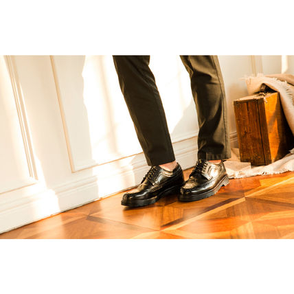 BSQT シューズ・サンダルその他 ★韓国の人気★BSQT★475 EASY-GOING WING TIP SHOES LUCY BLACK(7)