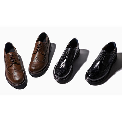 BSQT シューズ・サンダルその他 ★韓国の人気★BSQT★475 EASY-GOING WING TIP SHOES LUCY BLACK(8)