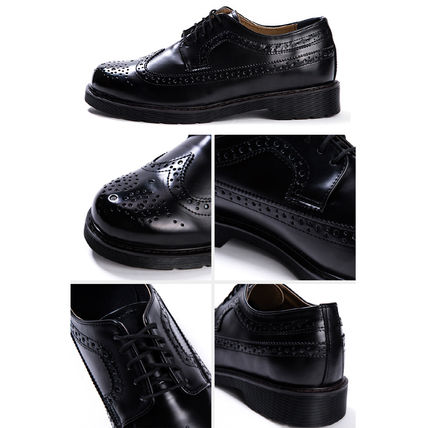 BSQT シューズ・サンダルその他 ★韓国の人気★BSQT★475 EASY-GOING WING TIP SHOES LUCY BLACK(19)