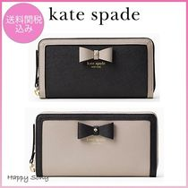 kate spade◆リボンが可愛い◆長財布◆hazel court lacey