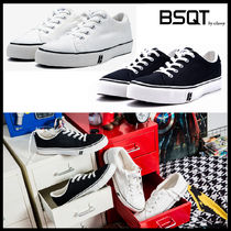 BSQT(ビーエスキューティー) スニーカー ★韓国の人気★BSQT★186 FITUS SNEAKERS VINTAGE WHITE/BLACK★