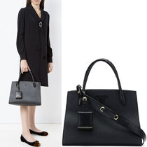 PR862 PRADA MONOCHROME SAFFIANO LEATHER BAG