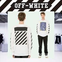 【17AW NEW】 Off-White_men /DIAG/CARAVAGGIOプリント ロングT/