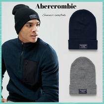 ★Abercrombie & Fitch★ロゴパッチニット帽【送料・関税込】