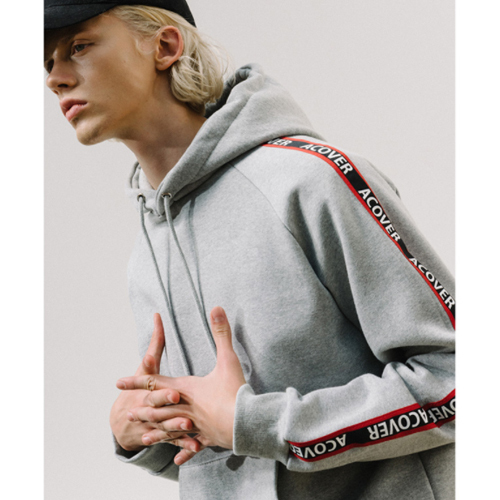 ★ACOVER★日本未入荷/ACOVER TAPE HOODIE(GY)